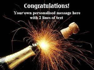 Personalised Champagne Congratulations Label