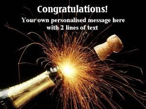 Personalised CongratulationsLabel